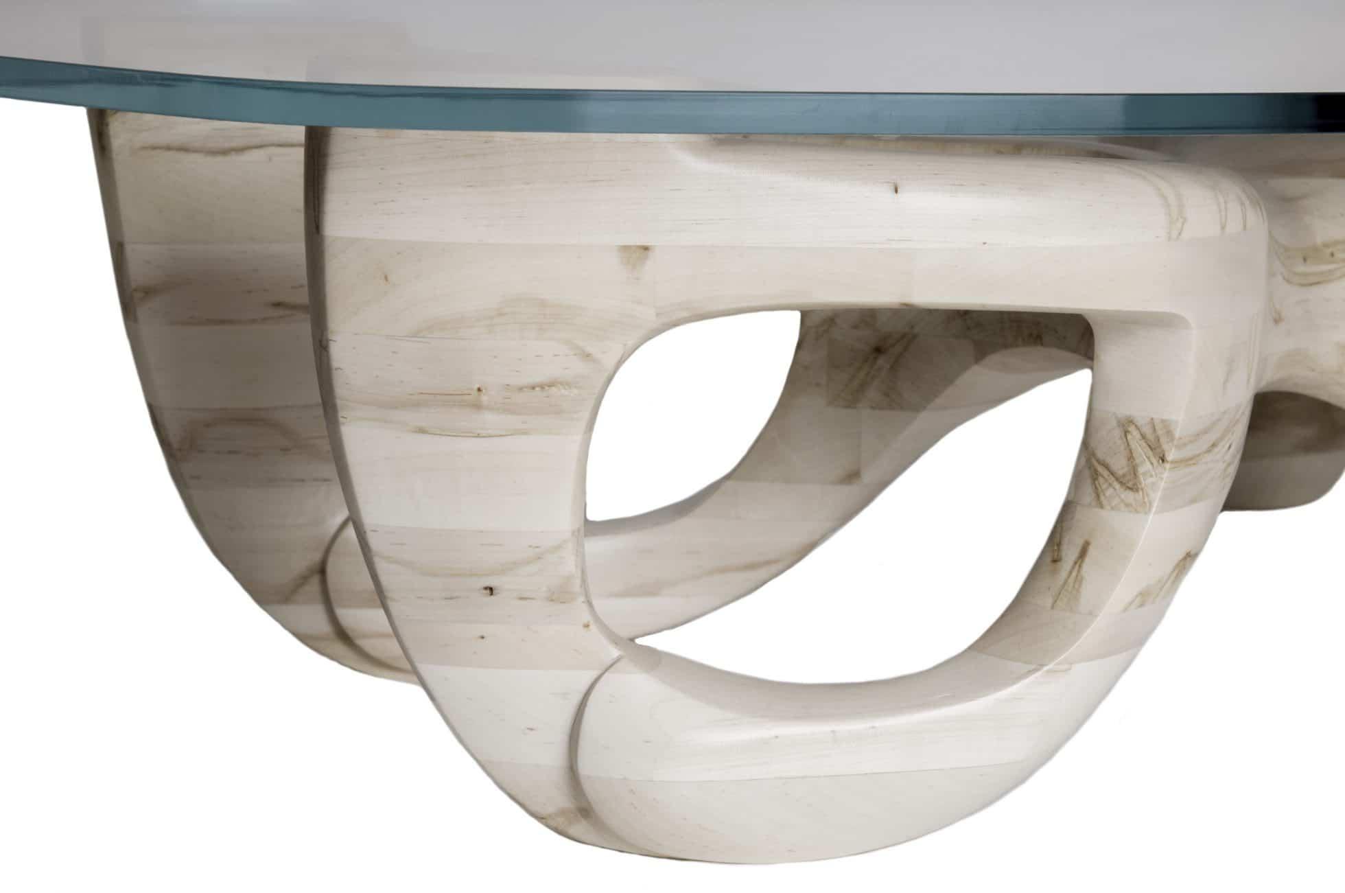 Glen Guarino Furniture Designs Avorio Table Detail